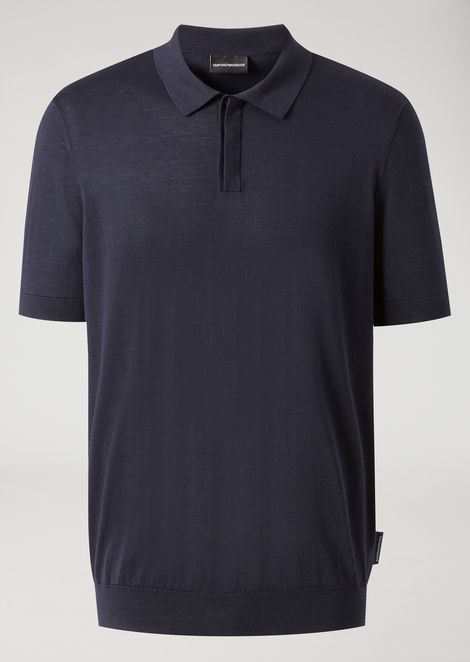 Short-sleeved polo shirt in single jersey