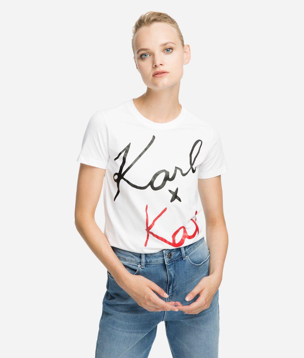 KARL LAGERFELD Karl x Kaia Signature T-Shirt T-Shirt Damen f