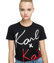 KARL LAGERFELD Karl x Kaia Signature T-Shirt 9_f