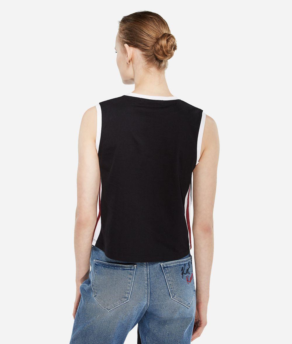 KARL LAGERFELD Karl X Kaia Logo Tank Top T-shirt Woman d