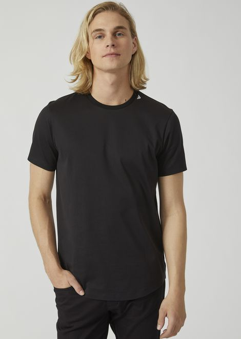 T-shirt in mercerised cotton jersey with embroidered logo