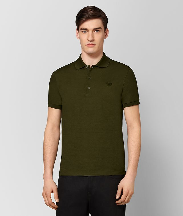 BOTTEGA VENETA MUSTARD COTTON POLO Polo And Tee [*** pickupInStoreShippingNotGuaranteed_info ***] fp