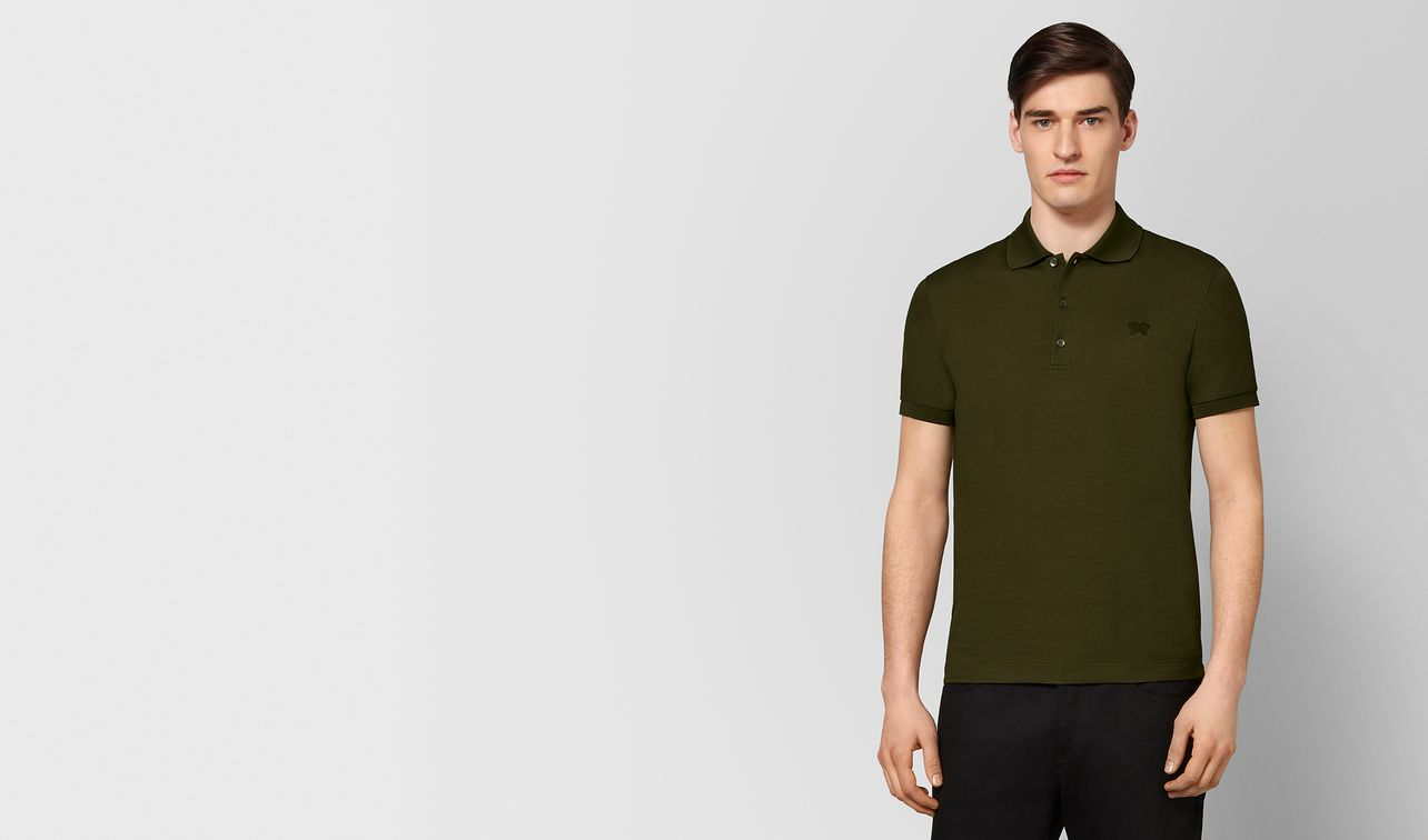 mustard cotton polo landing
