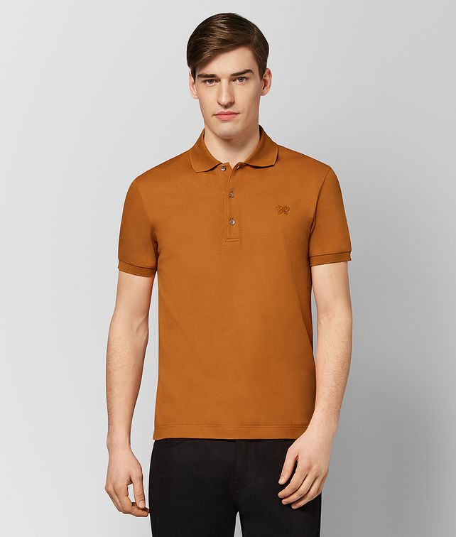 BOTTEGA VENETA ORANGE COTTON POLO T-Shirts and Polos [*** pickupInStoreShippingNotGuaranteed_info ***] fp