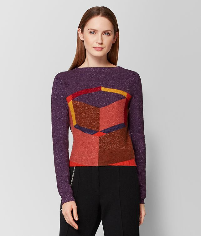 BOTTEGA VENETA GRAPE WOOL SWEATER Knitwear or Top or Shirt Woman fp