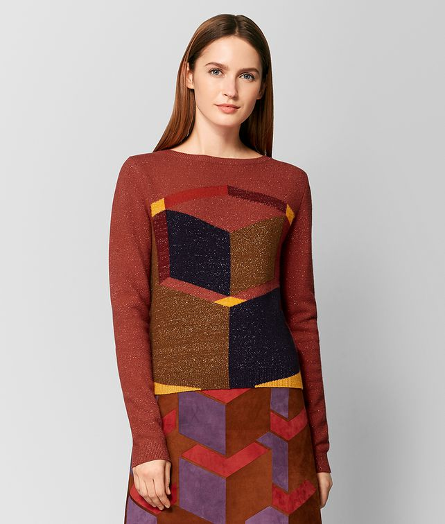 BOTTEGA VENETA MAGLIA IN LANA MULTICOLOR Maglieria [*** pickupInStoreShipping_info ***] fp