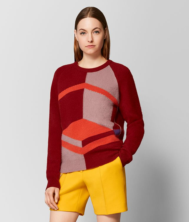 BOTTEGA VENETA MULTICOLOR CASHMERE SWEATER Knitwear or Top or Shirt Woman fp