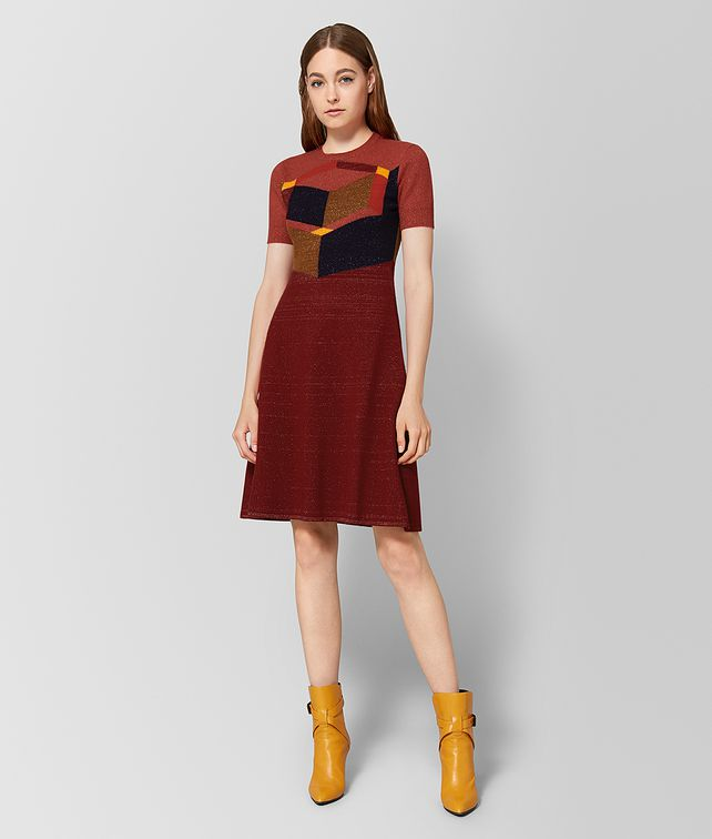 BOTTEGA VENETA DECO ROSE WOOL DRESS Dress [*** pickupInStoreShipping_info ***] fp