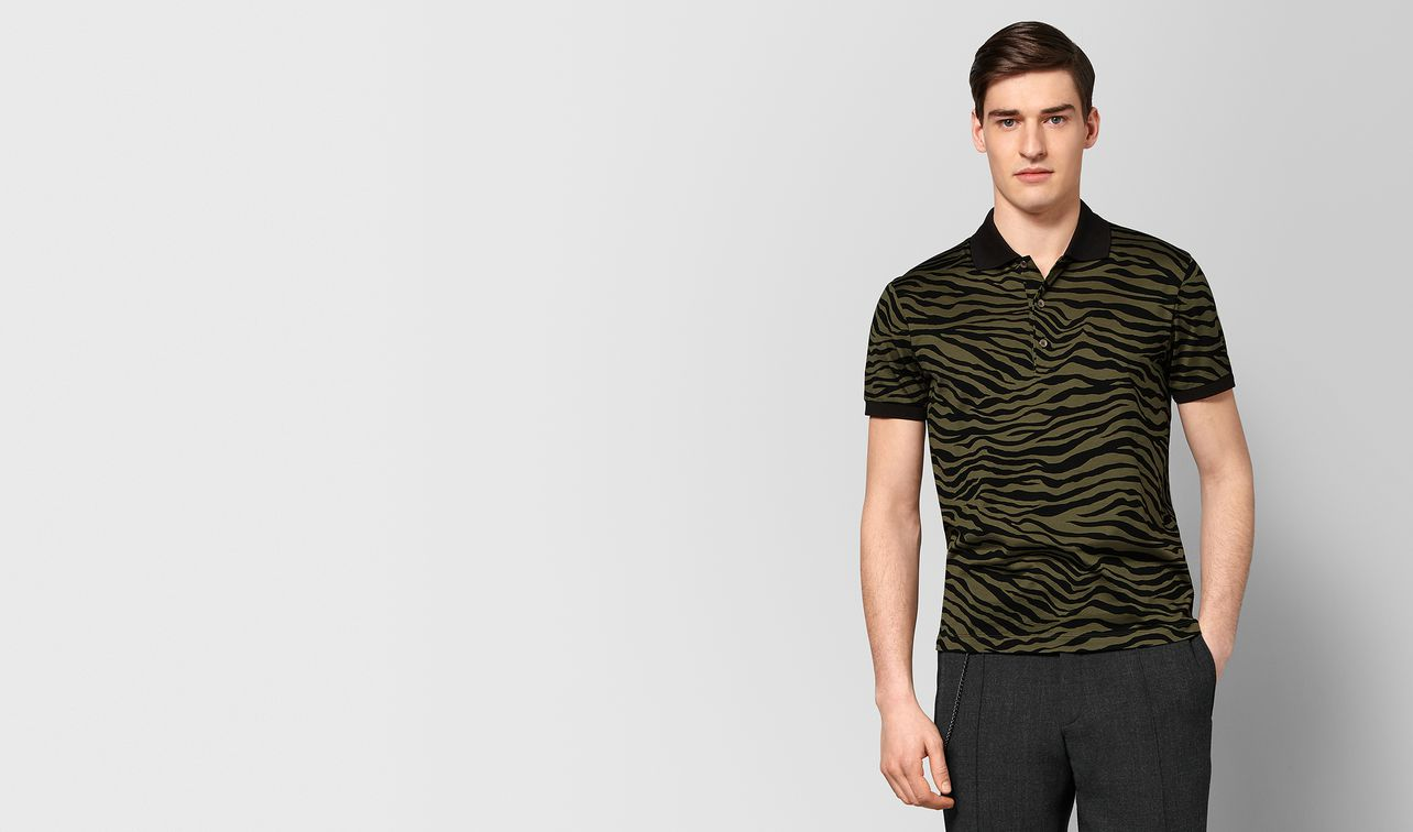 mustard/nero cotton polo landing