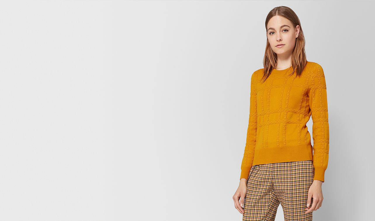 marigold cashmere sweater  landing