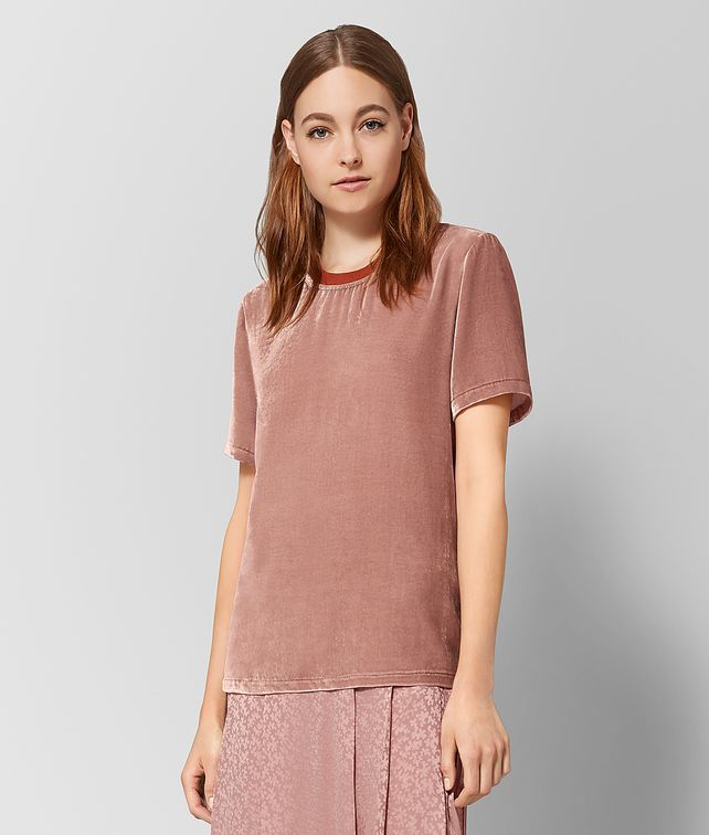 BOTTEGA VENETA OBERTEIL AUS SAMT IN DECO ROSE Strickware oder Top oder Bluse Damen fp