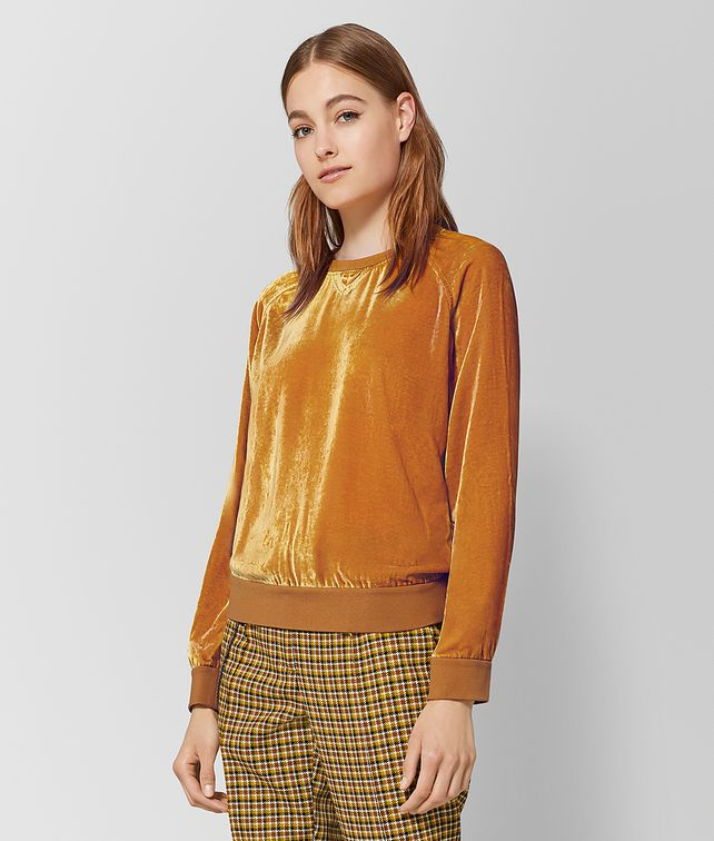 BOTTEGA VENETA MARIGOLD VELVET TOP Knitwear or Top or Shirt [*** pickupInStoreShipping_info ***] fp