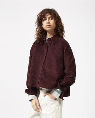 ISABEL MARANT SHIRT & BLOUSE Woman HANAO velvet shirt r