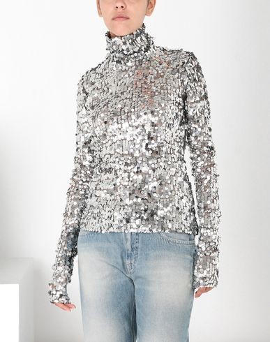 MM6 MAISON MARGIELA Top Woman Sequinned high-neck top f
