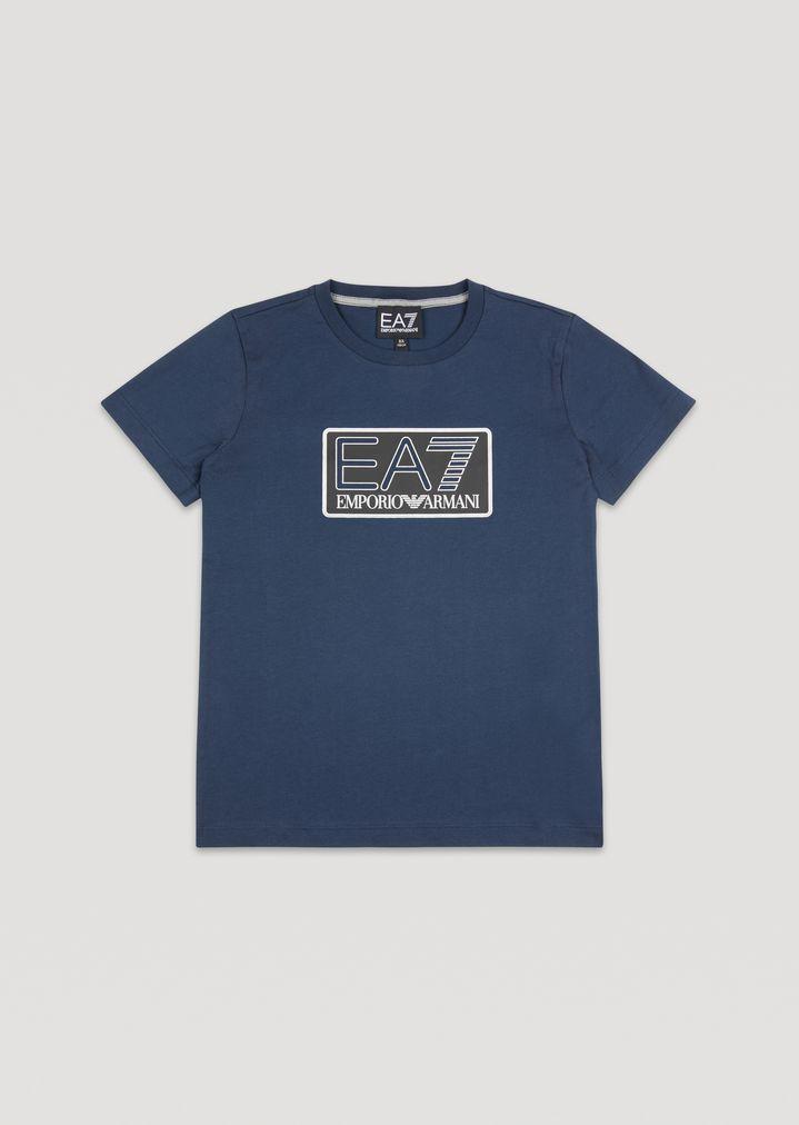 c0963598 Boys' cotton T-shirt with EA7 logo | Man | Ea7