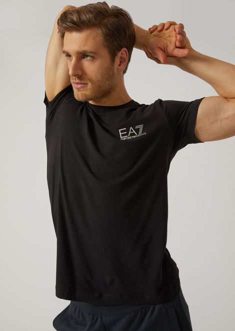 Stretch jersey crew-neck T-shirt
