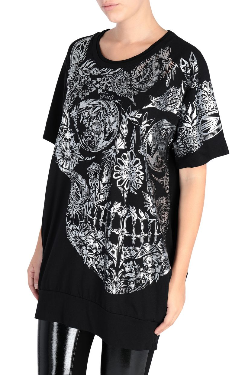 JUST CAVALLI Big Moroccan Skull T-shirt Short sleeve t-shirt Woman f