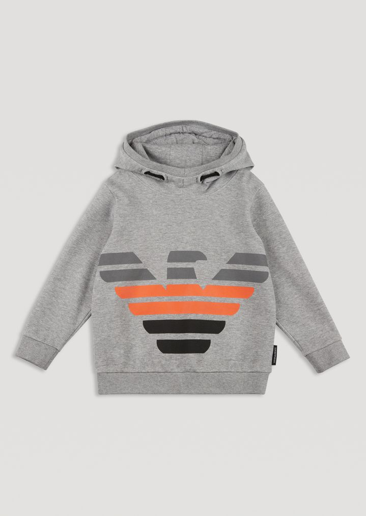 7644adda3d029 Hooded sweatshirt with printed Emporio Armani logo