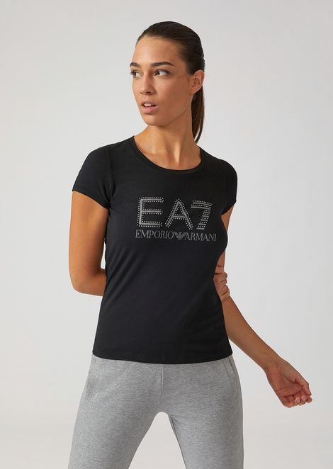 T-shirt with glittery studded logo