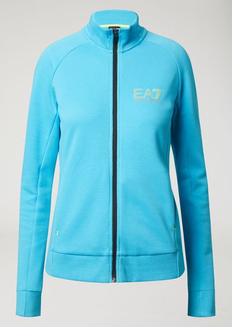 Breathable Ventus 7 technical fabric sweatshirt with zip
