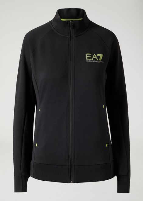 Breathable Ventus 7 technical fabric sweatshirt with zip