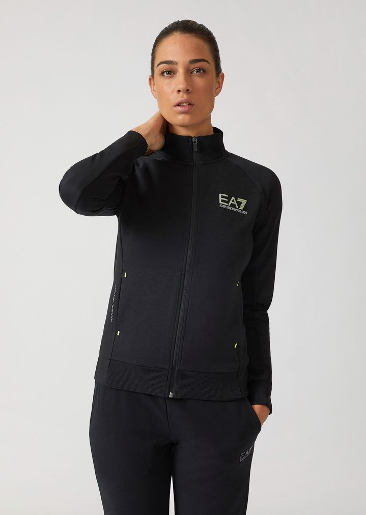 63a922e291 Breathable Ventus 7 technical fabric sweatshirt with zip | Woman | Ea7