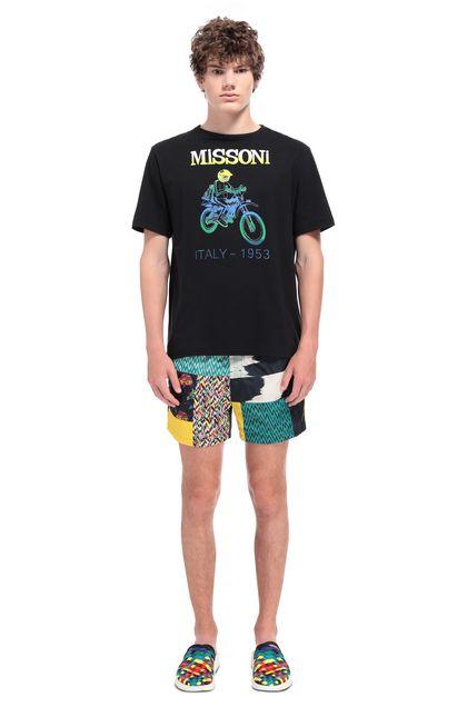 MISSONI Мужская футболка Чёрный Для Мужчин - Передняя сторона
