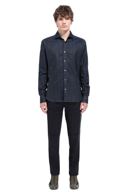 MISSONI Men's shirts Dark blue Man - Front