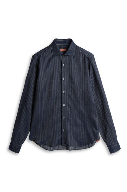 MISSONI Men's shirts Dark blue Man - Back