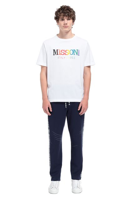 MISSONI Men's T-Shirts White Man - Front