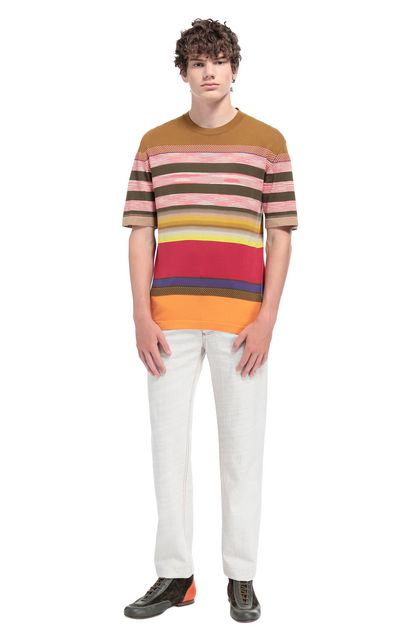 MISSONI Men's T-Shirts Coral Man - Front