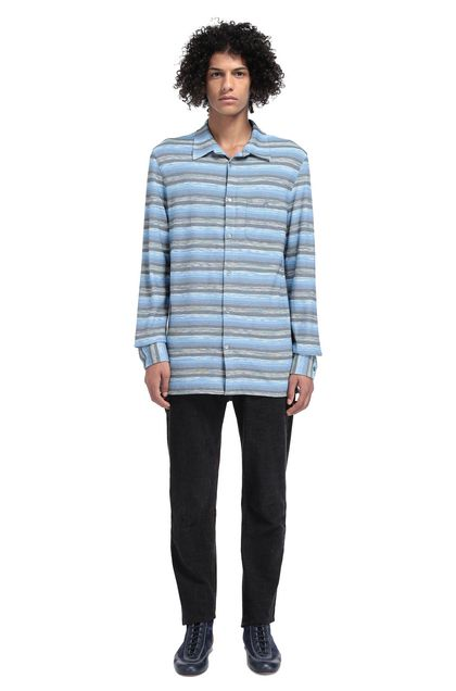 MISSONI Men's shirts Sky blue Man - Front
