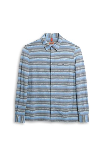MISSONI Men's shirts Sky blue Man - Back