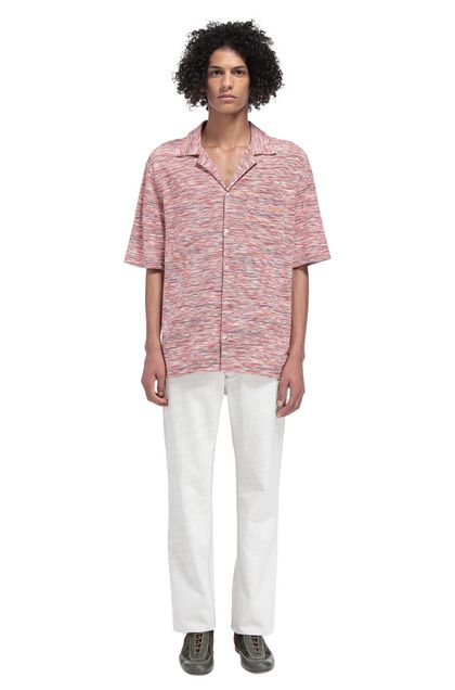 MISSONI Men's shirts Garnet Man - Front