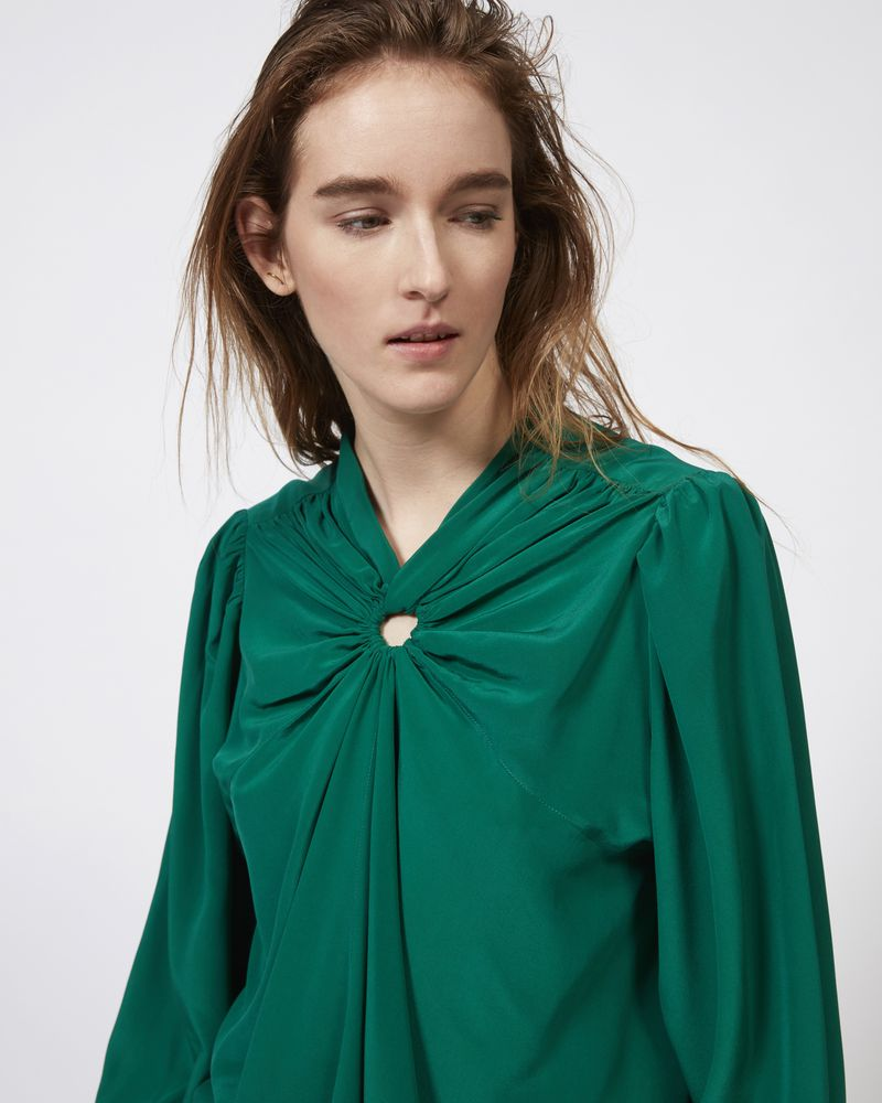 LEONORE silk top ISABEL MARANT