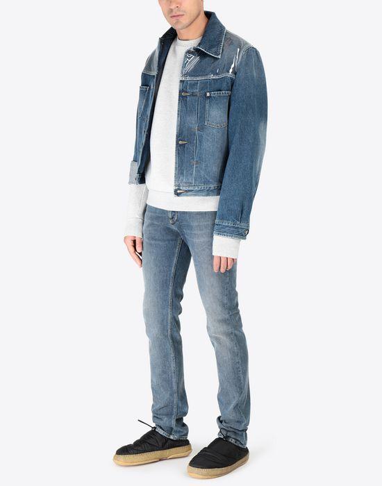 MAISON MARGIELA Transparent elbow-patched sweatshirt Sweatshirt [*** pickupInStoreShippingNotGuaranteed_info ***] d