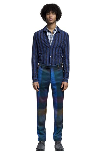 MISSONI Men's shirts Blue Man - Back