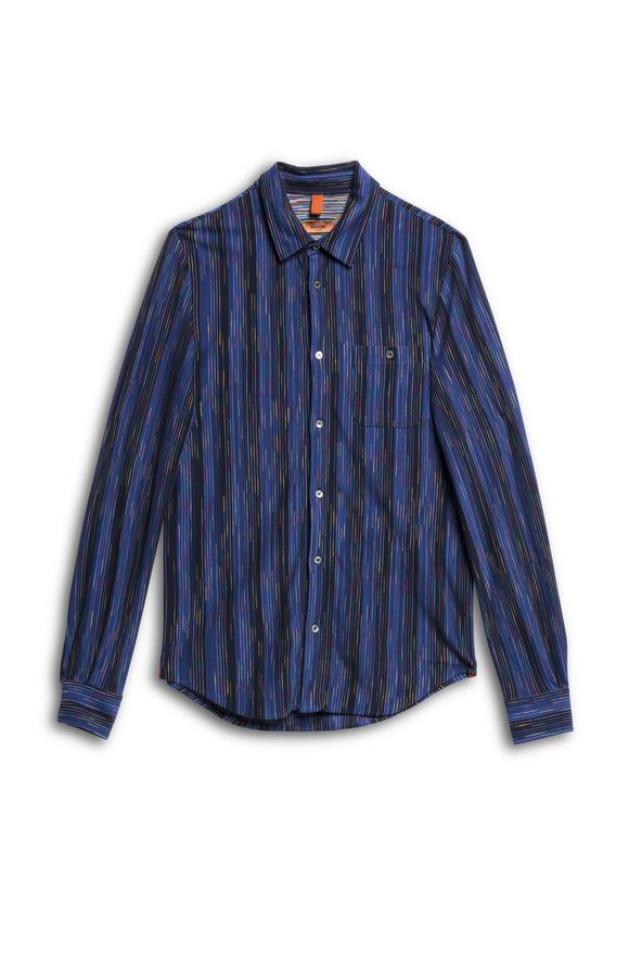 MISSONI Men's shirts Blue Man