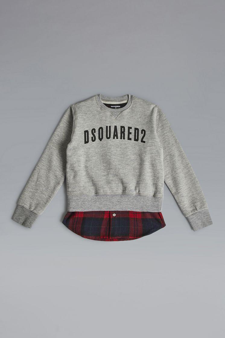 Dsquared2 Mixed Materials Sweatshirt Grigio Chiaro ... c31b37c4fa7c