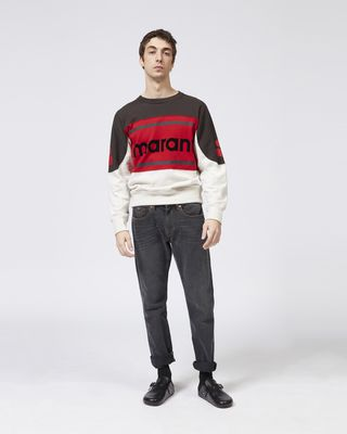 ISABEL MARANT SWEATSHIRT Man GALLIANH three colour sweatshirt r
