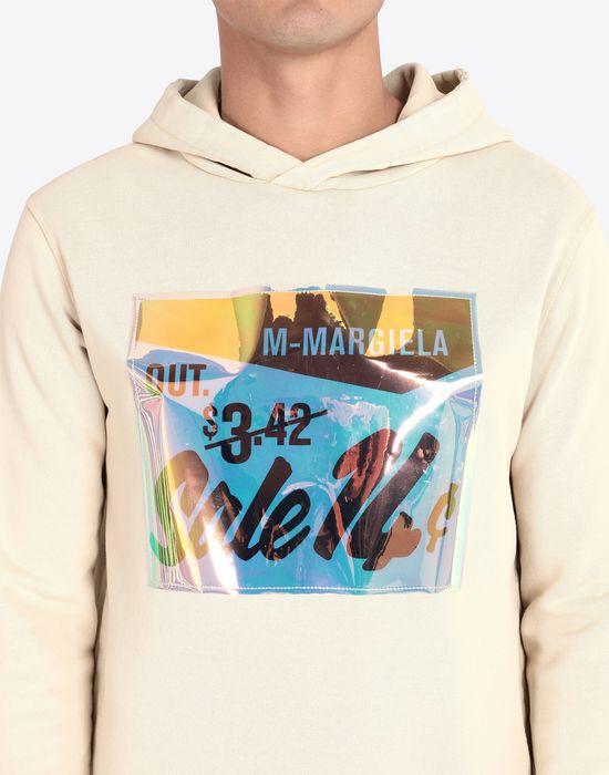 MAISON MARGIELA Sale print hooded sweatshirt Sweatshirt [*** pickupInStoreShippingNotGuaranteed_info ***] a