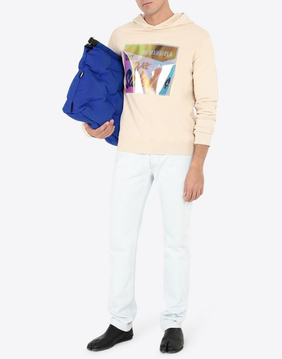 MAISON MARGIELA Sale print hooded sweatshirt Sweatshirt [*** pickupInStoreShippingNotGuaranteed_info ***] d