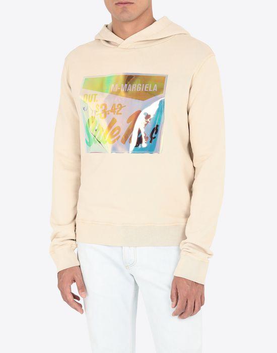 MAISON MARGIELA Sale print hooded sweatshirt Sweatshirt [*** pickupInStoreShippingNotGuaranteed_info ***] r