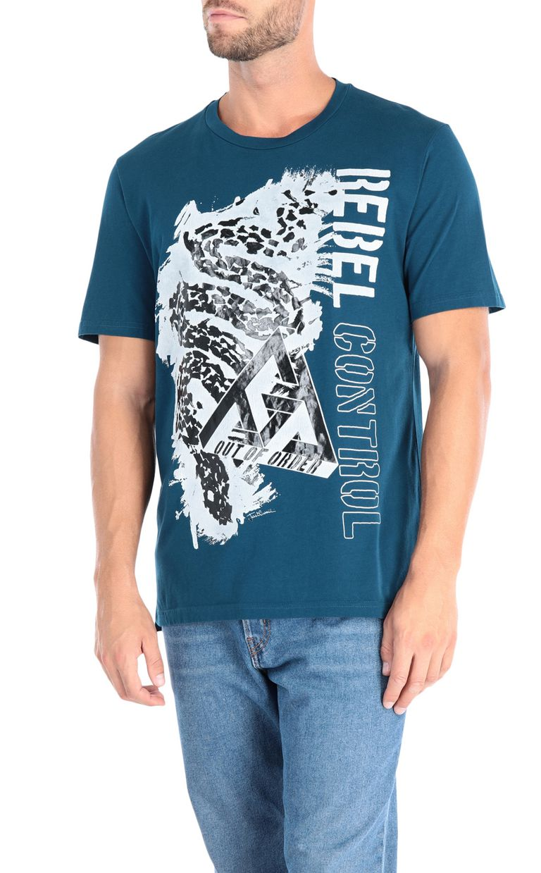 JUST CAVALLI Leopard T-shirt Short sleeve t-shirt Man f