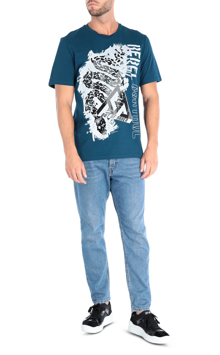JUST CAVALLI Leopard T-shirt Short sleeve t-shirt Man r