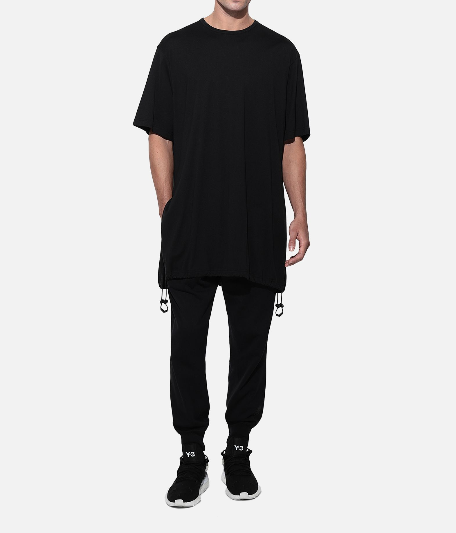 Y-3 Y-3 Drawstring Long Tee  Short sleeve t-shirt Man a