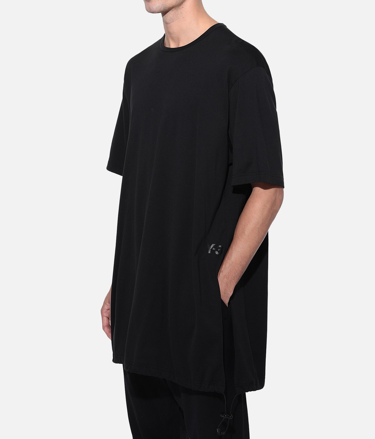 Y-3 Y-3 Drawstring Long Tee  Short sleeve t-shirt Man e