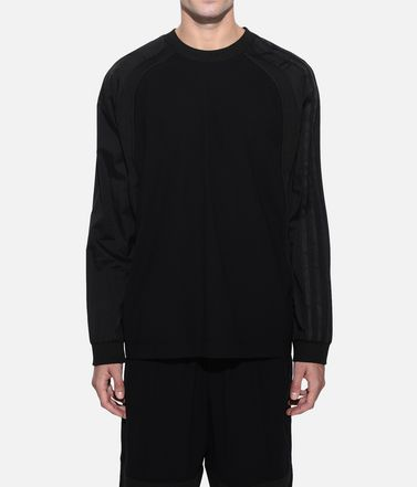 Y-3 Langärmliges T-shirt Herren Y-3 3-Stripes Material Mix Tee r