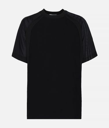 Y-3 3-Stripes Material Mix Tee