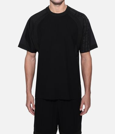 Y-3 T シャツ メンズ Y-3 3-Stripes Material Mix Tee r